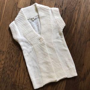 Sweaters - Cream Short Sleeve Sweater